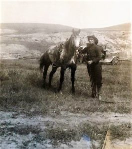 Olden day cowboy