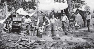 cowboys camping